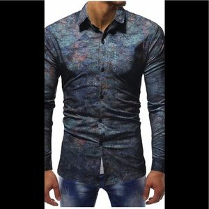 Other - Men's Long Sleeve Button-Down Casual Shirt